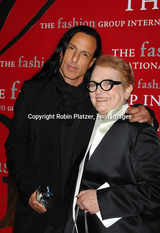 Rick Owens and Marylou Luther..at The Fashion Group International's Night of Stars on ..October 25, 2007 at Ciprianis in New York. ..Robin Platzer, Twin Images