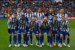 Deportivo de la Courna´s initial team players during La Liga match at Santiago Bernabeu stadium in Madrid, Spain. February 14, 2015. (ALTERPHOTOS/Victor Blanco)