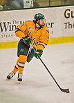 19 February 2016: University of Vermont Catamount Defenseman Mike Lee, a Freshman from Hamden, CT, in third period action against the Boston College Eagles at Gutterson Fieldhouse in Burlington, Vermont. The Eagles defeated the Catamounts 3-1 in the first game of their weekend series. Mandatory Credit: Ed Wolfstein Photo *** RAW (NEF) Image File Available ***