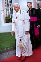 Pope Benedict XVI during a ceremony where he received the honorary citizenship of Bressanone, in this Northern Italian mountain resort,.. Aug. 9, 2008...