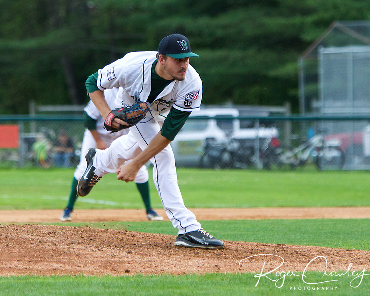The Vermont Mountaineers defeated the Ocean State Waves 6-3 in an NECBL game at Recreation Field in Montpelier.