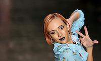 SAO PAULO, SP, 18 DE MARCO 2013 - SPFW CAVALERA - Modelo durante desfile da grife Cavalera no primeiro dia do Sao Paulo Fashion Week primavera-verão na Bienal do Ibirapuera na regiao sul da cidade de Sao Paulo nesta segunda-feira, 18. FOTO: WILLIAM VOLCOV - BRAZIL PHOTO PRESS.