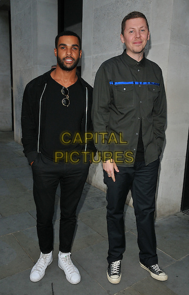 Lucien Laviscount &amp; Professor Green ( Stephen Manderson ) at the STK Ibiza launch party, STK bar &amp; restaurant, The Strand, London, England, UK, on Tuesday 21 June 2016.<br /> CAP/CAN<br /> &copy;CAN/Capital Pictures