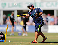 Kent coach Matt Walker takes a training session during the Vitality Blast T20 game between Kent Spitfires and Gloucestershire at the St Lawrence Ground, Canterbury, on Sun Aug 5, 2018