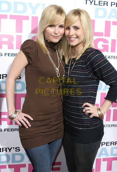 """NICOLE GARZA & NATALIE GARZA.""""Daddy's Little Girls"""" Los Angeles Premiere held at the Cinerama Dome, Hollywood, California, USA..February 7th, 2007.half length black brown top hands on hips.CAP/ADM/CH.©Charles Harris/AdMedia/Capital Pictures"""