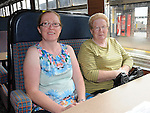Angela and Marella Gallagher aboard the Steam train at McBride station Drogheda. Photo: Colin Bell/pressphotos.ie