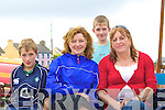 Watching the regatta in Portmagee last Saturday were l-r; Brandon, Breda & Oisi?n Moran with Sheila Cotter.