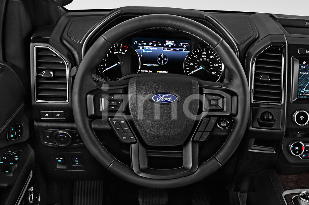 Car pictures of steering wheel view of a 2018 Ford Expedition Limited 5 Door SUV
