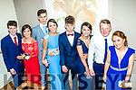 Youth Glam<br /> ----------------<br /> Students from Killorglin Intermediate school shine up for their Debs last Wednesday night in the Ballyroe Heights hotel, Tralee L-R Arthur Tether, Muireann Arthurs, John O'grady, Alana Foley, louis Mangan, Emma Ladden, Cathal Doyle and Larrisa Gamble.