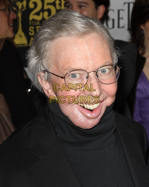 ROGER EBERT .25th Annual Film Independent Spirit Awards held At The Nokia LA Live, Los Angeles, California, USA,.March 5th, 2010 ..arrivals Indie Spirit portrait headshot  glasses black smiling polo neck .CAP/ADM/KB.©Kevan Brooks/Admedia/Capital Pictures