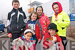 Children and their pets attending the Petmania and Tralee Carers Association Walk in Tralee on Easter Monday. .Back L-R Ciaran O' Reilly, Ciara Mangan, Aoife Mangan and Orla O'Reilly .Front L-R Jasmine Ryle and Twinkle and David McGrath and Buddy