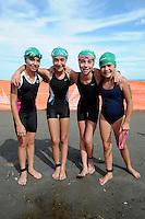 Triatlón Sports World Veracruz 2013- Andrea Sandoval, Alexia Amezcua, Fernanda Lorenzo, Paola Tizuco. ©NortePhoto.com ..<br /> YahirCeballos/NortePhoto