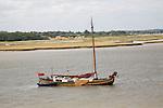 Dutch sailing paddle barge River Deben Suffolk England