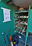 9 June 2012: Washington Nationals post the Lineup Card on the dugout wall near the bat rack prior to a game against the Boston Red Sox at Fenway Park in Boston, MA. The Nationals defeated the Red Sox 4-2 in the second game of their 3-game series. Mandatory Credit: Ed Wolfstein Photo