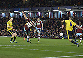 19/04/2016 Sky Bet League Championship  Burnley v Middlesbrough<br /> Ashley Barnes's shot blocked on the line