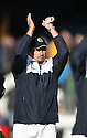 Newport manager Dean Holdsworth celebrates victory after the Blue Square Bet Premier match between Cambridge United and Newport County at the Abbey Stadium, Cambridge  on 25th September, 2010.© Kevin Coleman