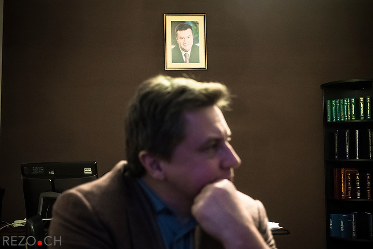 Kiev, Ukraine, 5 december 2013. Aleksei Nikolaievitch Azarov, son of ukrainian Prime Minister Mykola Azarov and member of parliament for Party of Region. Photographed in his office in commity of parliament