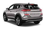Car pictures of rear three quarter view of 2019 Hyundai Tucson Inspire 5 Door SUV Angular Rear
