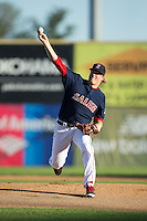 Salem Red Sox starting pitcher Ty Buttrey (46) in action against the Winston-Salem Dash at LewisGale Field at Salem Memorial Ballpark on May 13, 2015 in Salem, Virginia.  The Red Sox defeated the Dash 8-2.  (Brian Westerholt/Four Seam Images)