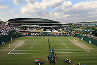 A general view of some of the outside courts at Wimbledon<br /> <br /> Photographer Rob Newell/CameraSport<br /> <br /> Wimbledon Lawn Tennis Championships - Day 5 - Friday 6th July 2018 -  All England Lawn Tennis and Croquet Club - Wimbledon - London - England<br /> <br /> World Copyright &not;&uml;&not;&copy; 2017 CameraSport. All rights reserved. 43 Linden Ave. Countesthorpe. Leicester. England. LE8 5PG - Tel: +44 (0) 116 277 4147 - admin@camerasport.com - www.camerasport.com