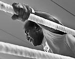 07.06.2011, Stanglwirt, Going, AUT, Wladimir Klitschko, Training, im Bild Emanuel Steward Trainer, Schwarz weiss, BW. EXPA Pictures © 2010, PhotoCredit: EXPA/ J. Groder