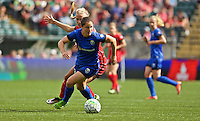 Portland, OR - Sunday, May 29, 2016: Seattle Reign FC defender Lauren Barnes (3) during a regular season National Women's Soccer League (NWSL) match at Providence Park.