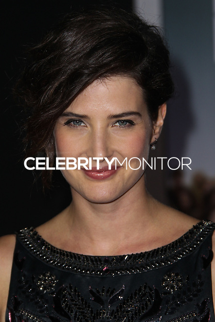 "HOLLYWOOD, CA - NOVEMBER 03: Actress Cobie Smulders arrives at the Los Angeles Premiere Of DreamWorks Pictures' ""Delivery Man"" held at the El Capitan Theatre on November 3, 2013 in Hollywood, California. (Photo by Xavier Collin/Celebrity Monitor)"
