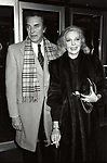 Martin Landau with his wife Barbara Bain<br />Attending a Broadway Show on September 1, 1983 in New York City.