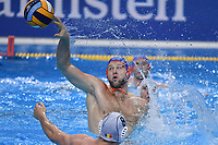 12 LUCAS Thomas Netherlands scores  <br /> Budapest 14/01/2020 Duna Arena <br /> ROMANIA (white caps) Vs. NETHERLANDS (blue caps) Men  <br /> XXXIV LEN European Water Polo Championships 2020<br /> Photo  © Andrea Staccioli / Deepbluemedia / Insidefoto