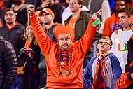 Charlotte, NC - DEC 2, 2017: Clemson Tigers fan holds up a broken turnover change during ACC Championship game between Miami and Clemson at Bank of America Stadium Charlotte, North Carolina. (Photo by Phil Peters/Media Images International)