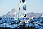 Rio de Janeiro Olympic Test Event - Fédération Française de Voile.  49er,Emmanuel Dyen, Stéphane Christidis.