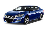 2017 Nissan Maxima S 4 Door Sedan Angular Front stock photos of front three quarter view