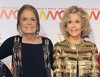 NEW YORK, NY - NOVEMBER 01: Gloria Steinem and Jane fonda attends the 2018 Women's Media Awards at Capitale on November 1, 2018 in New York City.a attends the 2018 Women's Media Awards at Capitale on November 1, 2018 in New York City.  <br /> CAP/MPI/JP<br /> &copy;JP/MPI/Capital Pictures
