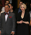 """Robert Horn and Julie HalstonRobert Horn and Julie Halston during the Broadway Opening Night Actors' Equity Legacy Robe Ceremony honoring Jenifer Foote for """"Tootsie"""" at The Marquis Theatre on April 22, 2019  in New York City."""