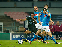Marek Hamsik Raheem Sterling during the Champions League Group  soccer match between SSC Napoli - Manchester City   at the Stadio San Paolo in Naples 01 nov 2017