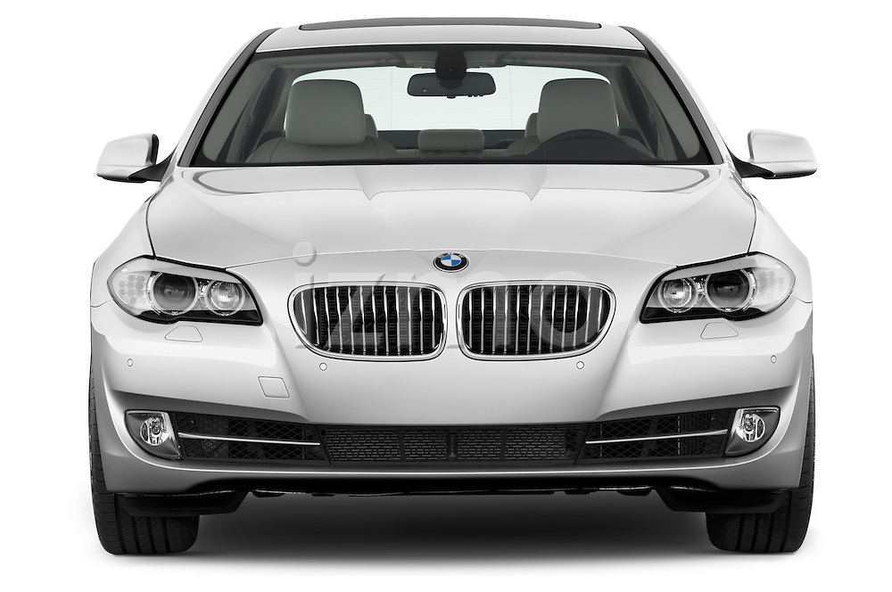 Straight front view of a 2013 Bmw SERIES 5 ActiveHybrid 5 4 Door Sedan 2WD