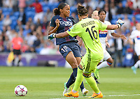 20170601 - CARDIFF , WALES : PSG's Marie-Laure Delie pictured in a duel with Lyon's Sarah Bouhaddi (r) during a womensoccer match between the teams of  Olympique Lyonnais and PARIS SG, during the final of the Uefa Women Champions League 2016 - 2017 at the Cardiff City Stadium , Cardiff - Wales - United Kingdom , Thursday 1  June 2017 . PHOTO SPORTPIX.BE | DAVID CATRY