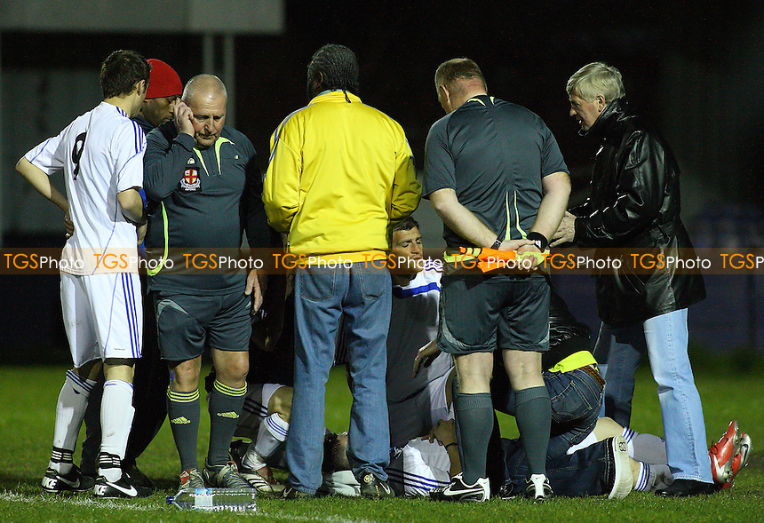 Bancroft United (yellow) vs Real Romania - Albert Daniels Senior Cup Final at Leyton FC - 16/04/10 - MANDATORY CREDIT: Gavin Ellis/TGSPHOTO - Self billing applies where appropriate - Tel: 0845 094 6026