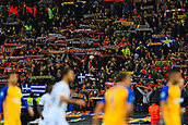 6th December 2017, Wembley Stadium, London England; UEFA Champions League football, Tottenham Hotspur versus Apoel Nicosia; Apoel FC fans hold their scarfs in the air during the game