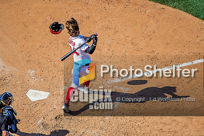9 July 2017: Washington Nationals All-Star right fielder Bryce Harper in action against the Atlanta Braves at Nationals Park in Washington, DC. The Nationals defeated the Atlanta Braves to split their 4-game series. Mandatory Credit: Ed Wolfstein Photo *** RAW (NEF) Image File Available ***