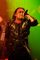 LONDON, ENGLAND - NOVEMBER 10: Dani Filth (Daniel Lloyd Davey) of 'Cradle of Filth' performing at Electric Ballroom, Camden on November 10, 2017 in London, England.<br /> CAP/MAR<br /> &copy;MAR/Capital Pictures