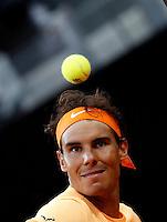 Lo spagnolo Rafael Nadal agli Internazionali d'Italia di tennis a Roma, 12 maggio 2016.<br /> Spain's Rafael Nadal reacts after defeating Australia's Nick Kyrgios at the Italian Open tennis tournament in Rome, 12 May 2016.<br /> UPDATE IMAGES PRESS/Isabella Bonotto