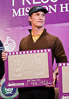 HAIKOU, CHINA - OCTOBER 28:  Hollywood actor Matthew McConaughey poses with his handprints during a press conference as part of the Mission Hills Star Trophy on October 28, 2010 in Haikou, China. The Mission Hills Star Trophy is Asia's leading leisure liflestyle event and features Hollywood celebrities and international golf stars.  Photo by Victor Fraile / studioEAST