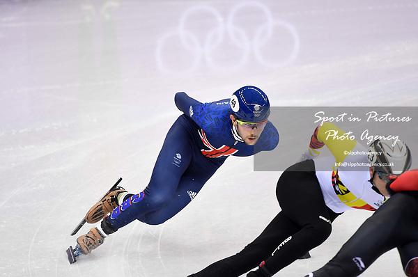 Farrell Treacy (GBR). Mens 1,500m. Short track. Gangneung ice arena. Pyeongchang2018 winter Olympics. Gangneung. Republic of Korea. 10/02/2018. ~ MANDATORY CREDIT Garry Bowden/SIPPA - NO UNAUTHORISED USE - +44 7837 394578