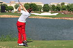 Ian Poulter tees off on the par3 6th tee during Day 1 of the Dubai World Championship, Earth Course, Jumeirah Golf Estates, Dubai, 25th November 2010..(Picture Eoin Clarke/www.golffile.ie)