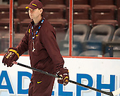Grant Potulny (MN - Assistant Coach) - The University of Minnesota Golden Gophers practiced on Wednesday, April 9, 2014, at the Wells Fargo Center in Philadelphia, Pennsylvania during the 2014 Frozen Four.