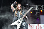 Chris Howorth of In This Moment performs during the 2013 Rock On The Range festival at Columbus Crew Stadium in Columbus, Ohio.