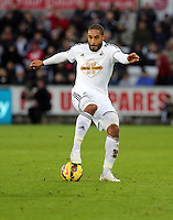 Pictured: Ashley Williams of Swansea Saturday 10 January 2015<br />