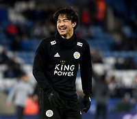 Leicester City's Shinji Okazaki during the pre-match warm-up <br /> <br /> Photographer Hannah Fountain/CameraSport<br /> <br /> The Premier League - Leicester City v Tottenham Hotspur - Saturday 8th December 2018 - King Power Stadium - Leicester<br /> <br /> World Copyright © 2018 CameraSport. All rights reserved. 43 Linden Ave. Countesthorpe. Leicester. England. LE8 5PG - Tel: +44 (0) 116 277 4147 - admin@camerasport.com - www.camerasport.com