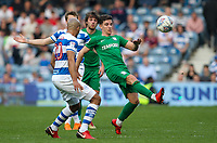 Preston North End's Josh Harrop competing with Queens Park Rangers' Alex John-Baptiste<br /> <br /> Photographer Andrew Kearns/CameraSport<br /> <br /> The EFL Sky Bet Championship - Queens Park Rangers v Preston North End - Loftus Road - London<br /> <br /> World Copyright &copy; 2018 CameraSport. All rights reserved. 43 Linden Ave. Countesthorpe. Leicester. England. LE8 5PG - Tel: +44 (0) 116 277 4147 - admin@camerasport.com - www.camerasport.com